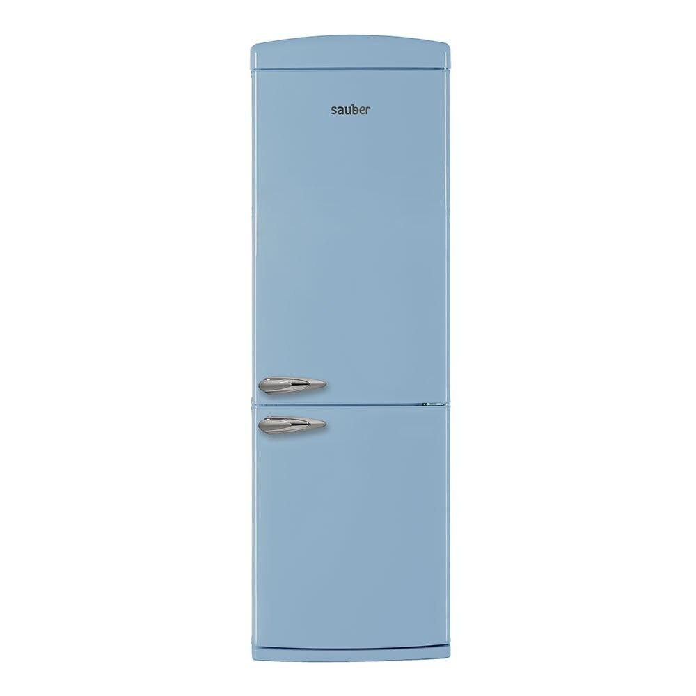 Frigorífico combi sauber scr190a + alta 190 cm de largura 60 cm azul