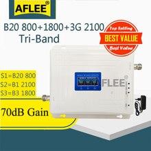 B20 800 1800 2100 trójpasmowy wzmacniacz komórkowy telefon komórkowy 4G regenerator sygnału gsm 2g 3g 4g wzmacniacz sygnału komórkowego LTE DCS WCDMA