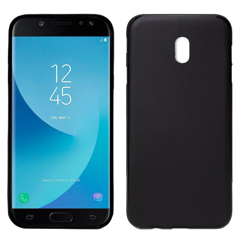 Funda movil Silicona Samsung J730 Galaxy J7 (2017) Negro, suave,