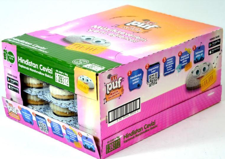 ETI Ulker Coconut Colorful Granules  wonderfull  Marshmallow Biscuits Halal