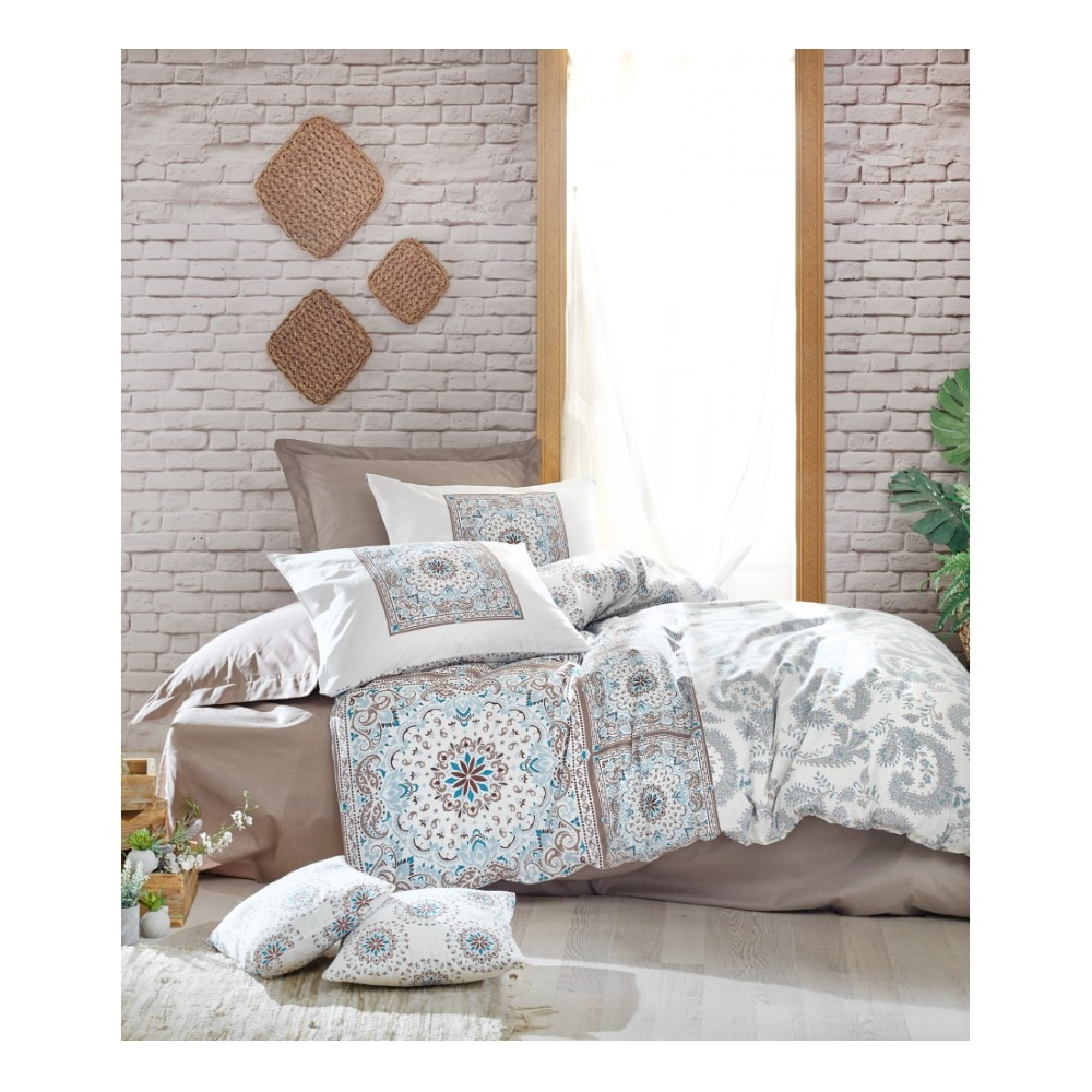 Cotton Box Turkey Double Duvet Duvet Cover Bed Sheet Pillowcase King Size Duvet Cover Bedding 100% Cotton Bedroom 4 Piece Bohem
