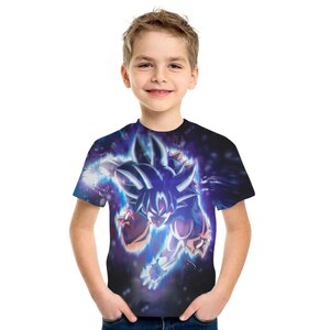 2021 Summer Best-selling Anime Cartoon Characters Children's T-shirts Boys and Girls Children's Short Sleeve Children's 3D T-shi