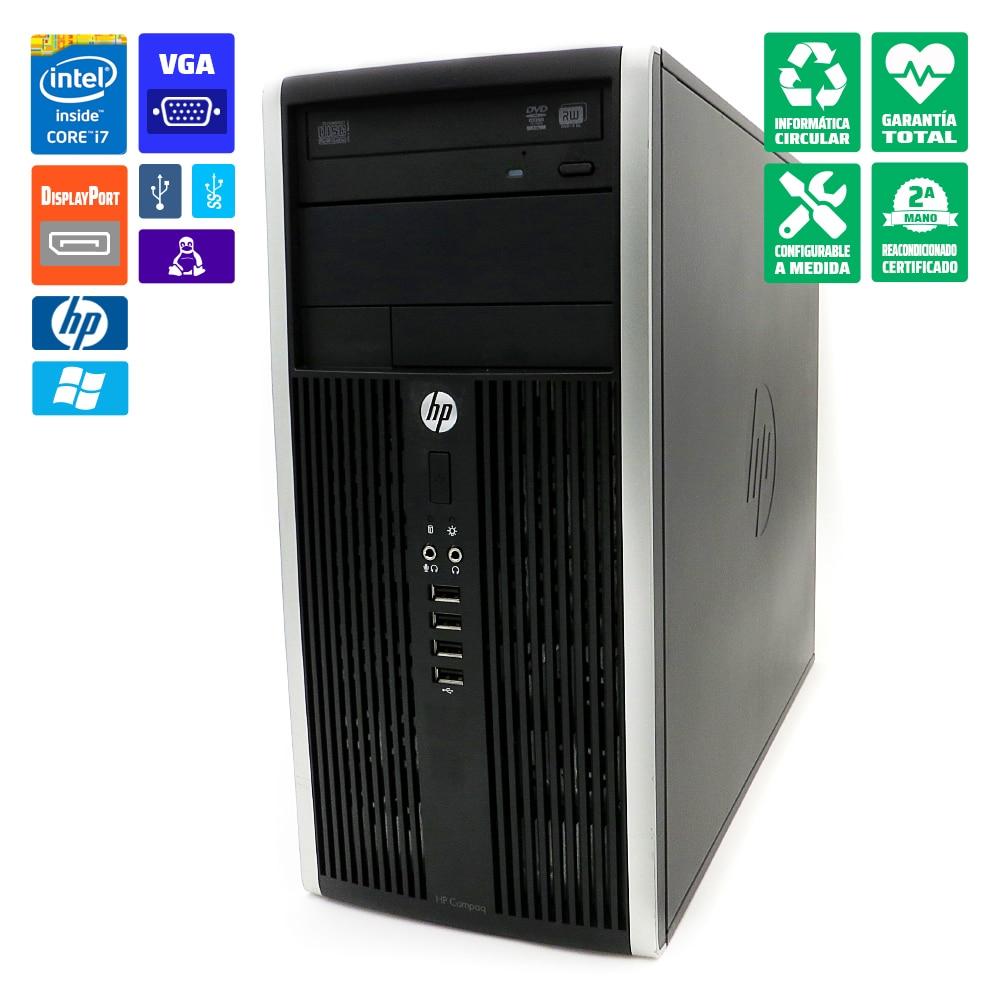 Ordenador HP 8300 CMT PC torre i7-3770 8GB-RAM DVD/RW Gráfica nueva MSI GeForce GT710 2GB HDMI/DVI WiFi Windows 10 Home original