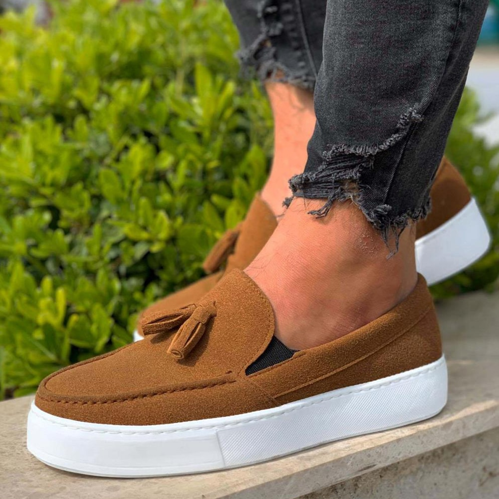 Knack Casual Sport Classic Shoes Tan Suede Comfortable Flexible Quality Sturdy Stitched Stylish Fashion 2021 Adult Men's Youth Shoes Non-Leather Casual Shoes Men Casual Shoes Mens Shoes Casual Men Sneakers Shoes 717