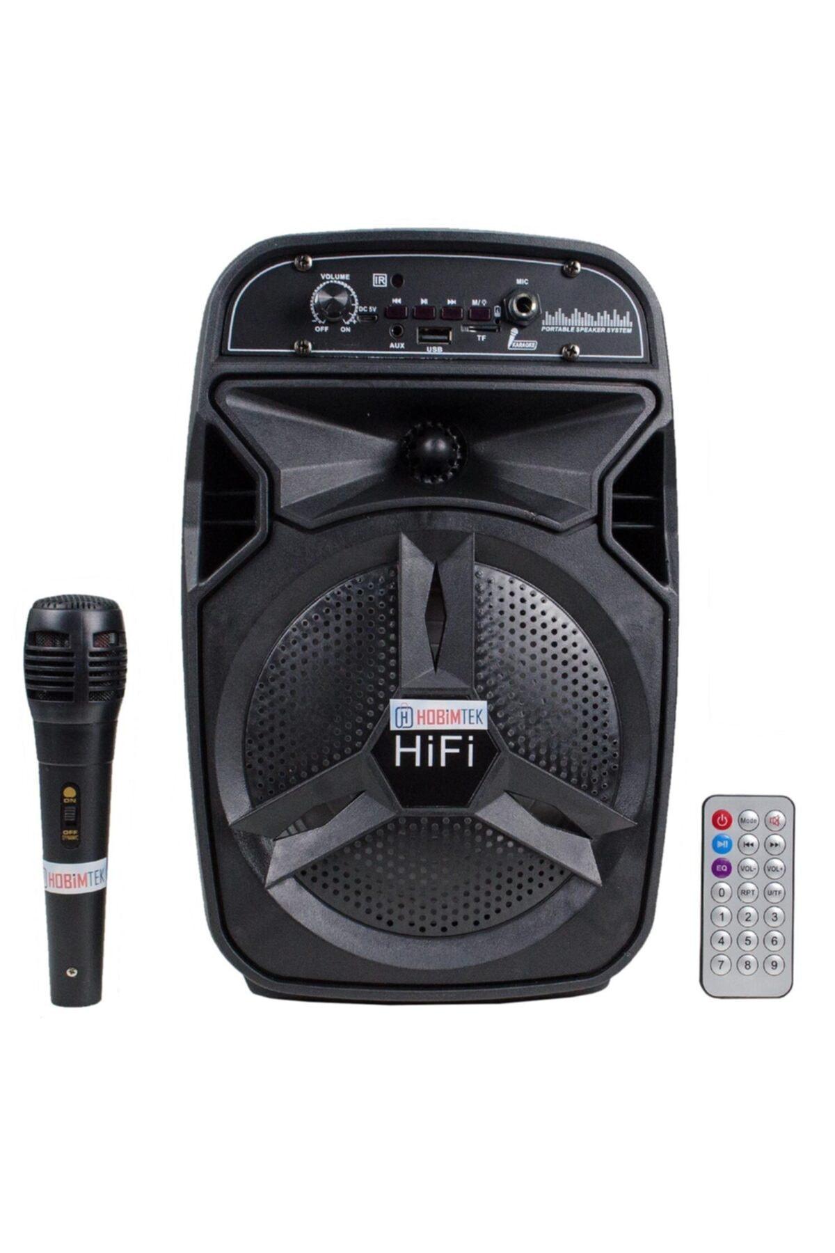 Bt-06 نظام موسيقي كاريوكي مع بلوتوث قابلة للشحن المحمولة راديو Fm Aux Led ميكروفون مكبر صوت كبير