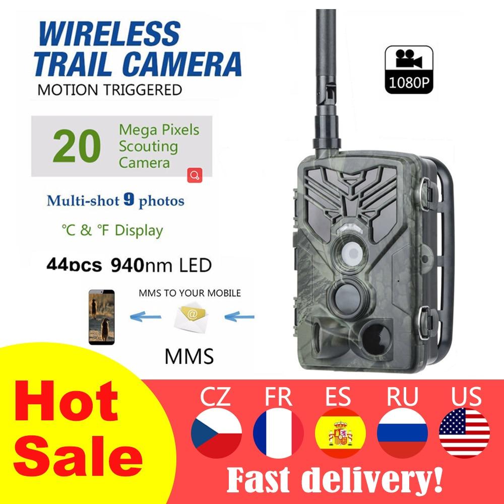 2G Hunting Camera Trail Camera SMS/MMS/SMTP 16MP 1080P HC810M Photo Traps 0.3s Trigger Time Trap Wildlife Camera Equipment