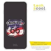 FunnyTech®Stand case for Xiaomi Mi A1 L Wild Silicone USA Route 66/Route 66 USA flag Black