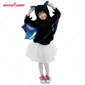 Kids Gril Fancy Bat Halloween Costume Cloak Dress Cover up