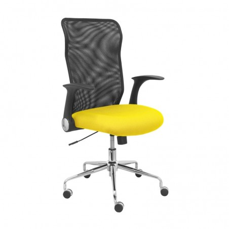 4031BALI100 стул Minaya задняя сетка черное сиденье Бали желтые пикеры и Креспо