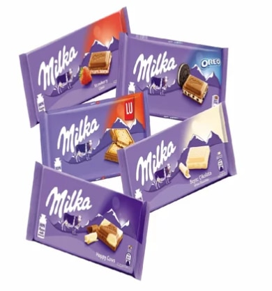Nestle шоколадный фестиваль MILKA (5 таблеток шоколада)
