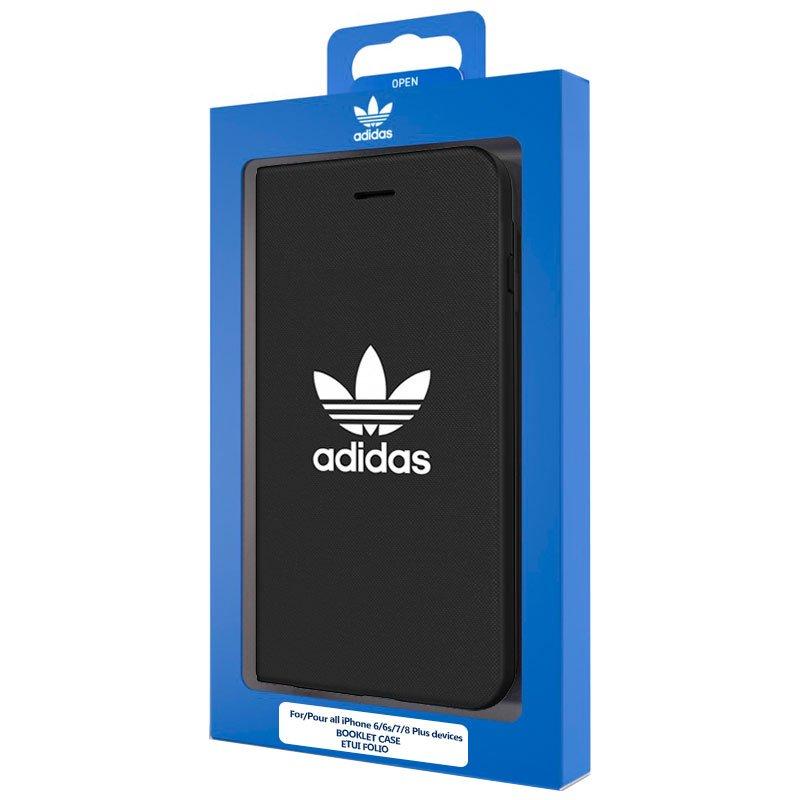 Adidas iPhone 6 Mais Virar Capa case/iPhone 7 Plus / 8 Mais licença Preto
