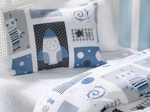2020 New Planet Cotton Baby Duvet Cover Set 100x150 Cm Blue, Series , Resistant , Clean  ,  Made In Turkey Fast  Shipping
