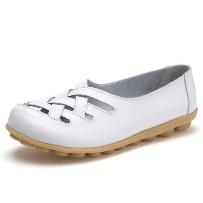 ALOHAKIM  2022 new flats shoes summer  white shoes