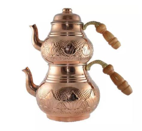Teapots Teapot Copper Handmade Tea Set Traditional Turkish Chinese Japanese Tea Coffee Kettle Boiler Christmas Gift