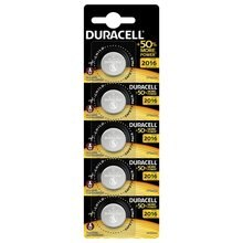 Pile bouton CR2016 LITHIUM DURACELL 5 PZ