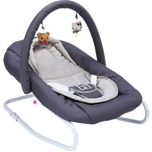 Quirky Rocking Cradle with Mother Gray Snooze Furniture Swing Products Bebe Girl Boy Kids Accessorie