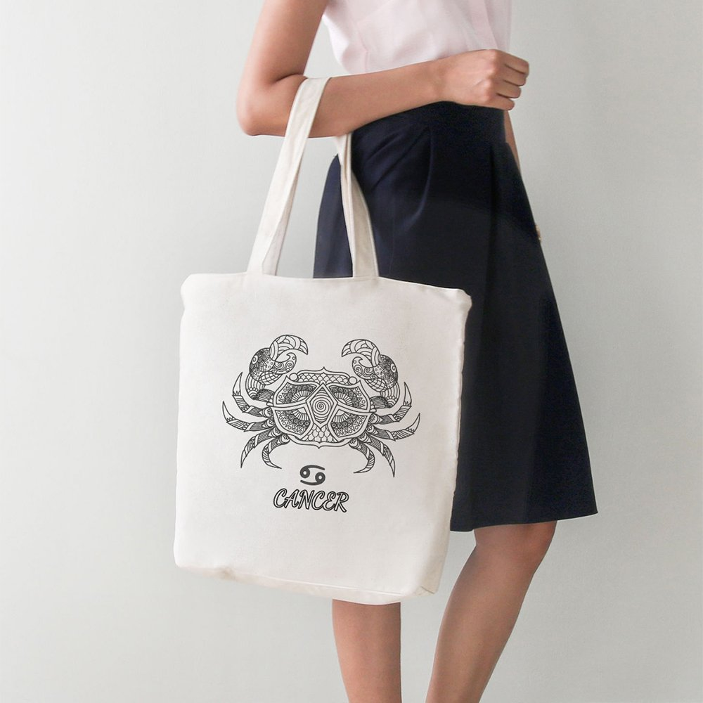 Angemiel Bag Canger Crab Zodiac Large Tote Shopping Beach Bag