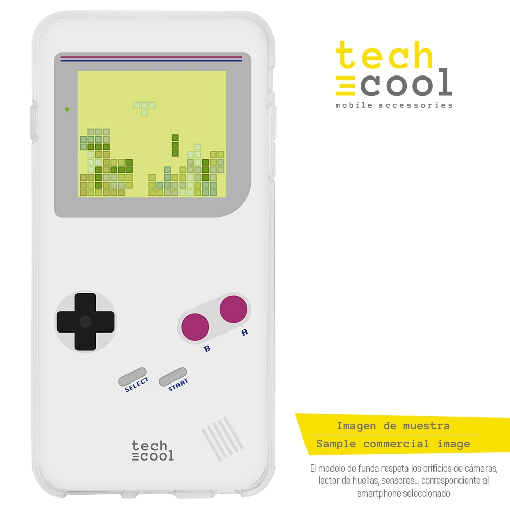 FunnyTech® Funda Silicona para BQ Aquaris X2 / X2 Pro / Vsmart Active 1 l Game boy pantalla Tetris