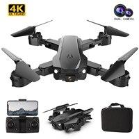 Радиоуправляемый Дрон S80 с камерой 4K WiFi FPV складной Квадрокоптер с функцией траектории полета Безголовый режим 3D Летающий Дрон игрушки для д...