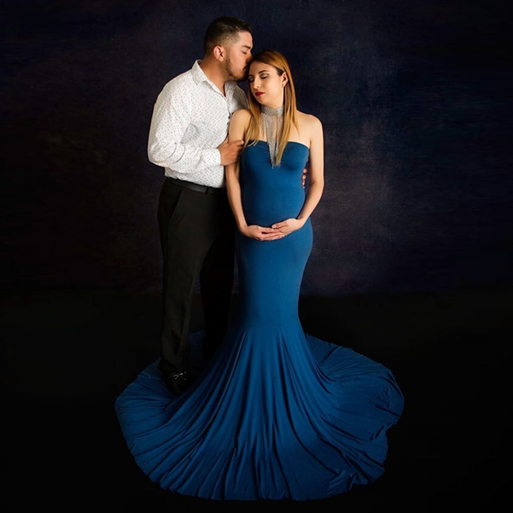 Don&Judy New Cape Matched Dresses Maternity Dresses for Baby Shower Pregnant Women Maxi Gown Pregnancy Dress for Photo Shoot enlarge