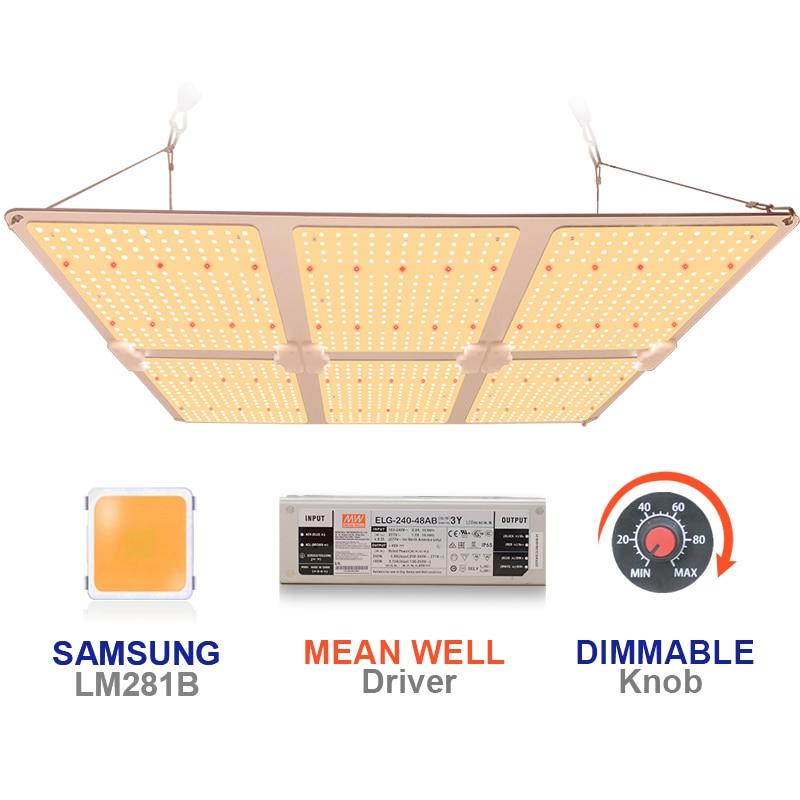 Samsung LM281B Full Spectrum LED Grow Light 600W SF6000 Quantum Board Phytolamp for Plants Veg Flower