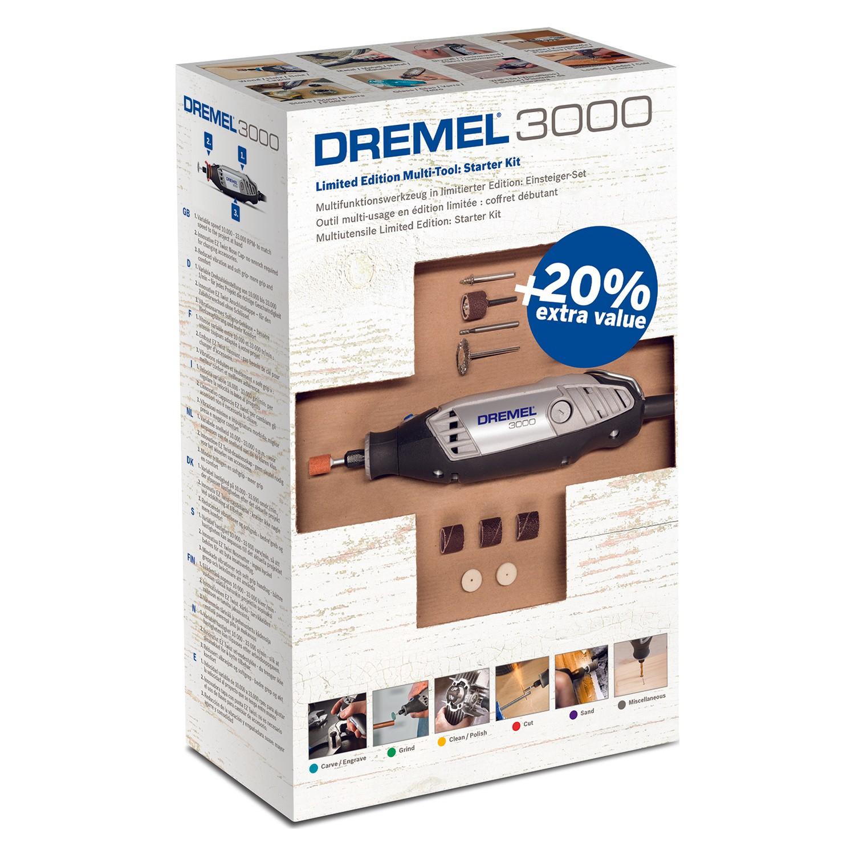 Dremel 3000 Hobby Elektrische Hand Werkzeuge Holz DIY Handwerk Vorteil Kit 25 Zubehör Schleifen Reinigung Polieren und Carving