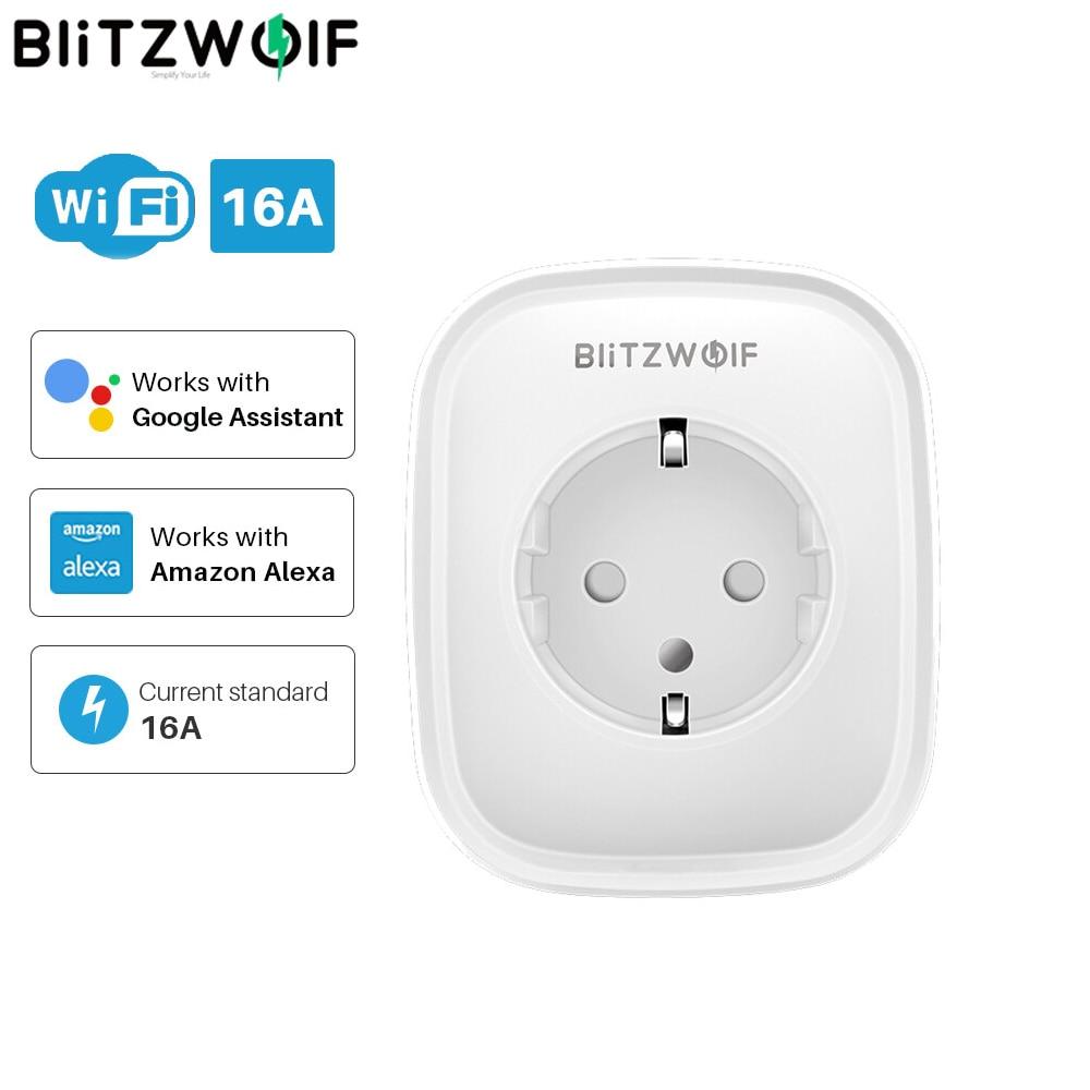 BlitzWolf BW-SHP2 EU Plug Smart WiFi Plug Adaptor 16A Power Socket Outlet Remote Control Timing Work With Alexa Google Assistant