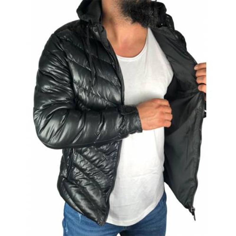2021 Zipper Men Jackets Autumn Winter Casual Fleece Coats Bomber Jacket Scarf Collar Fashion Hooded Male Outwear Slim Fit Hoody Parka Trench sweater leather jacket puffer leather jacket