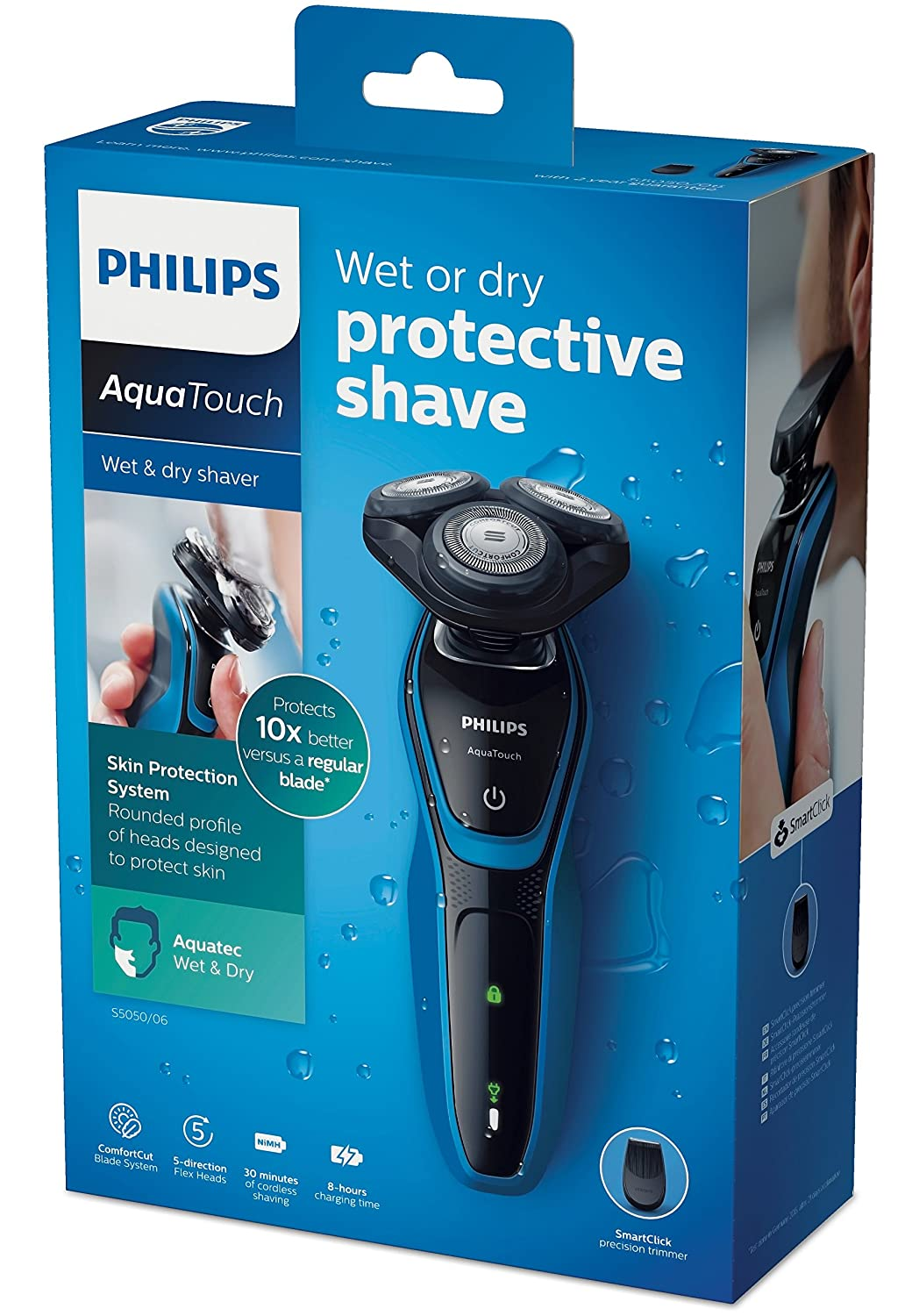 Philips S5050/06 Aquatouch Electric Shaver enlarge