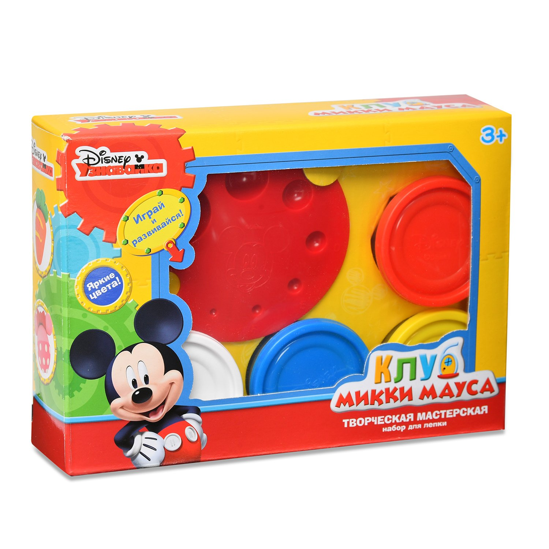 Set para modelar el taller creativo del Club Mickey Mouse de Disney (masa para Modelado-4 colores. Para 50g, accesorios, Folleto)