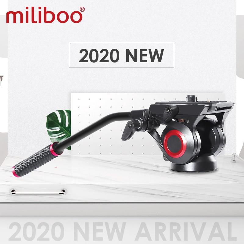 Miliboo 801II رأس فيديو سائل مع لوحة الإفراج السريع للكاميرا DSLR ترايبود Monopod رأس هيدروليكي بانورامي يصل إلى 10 كجم