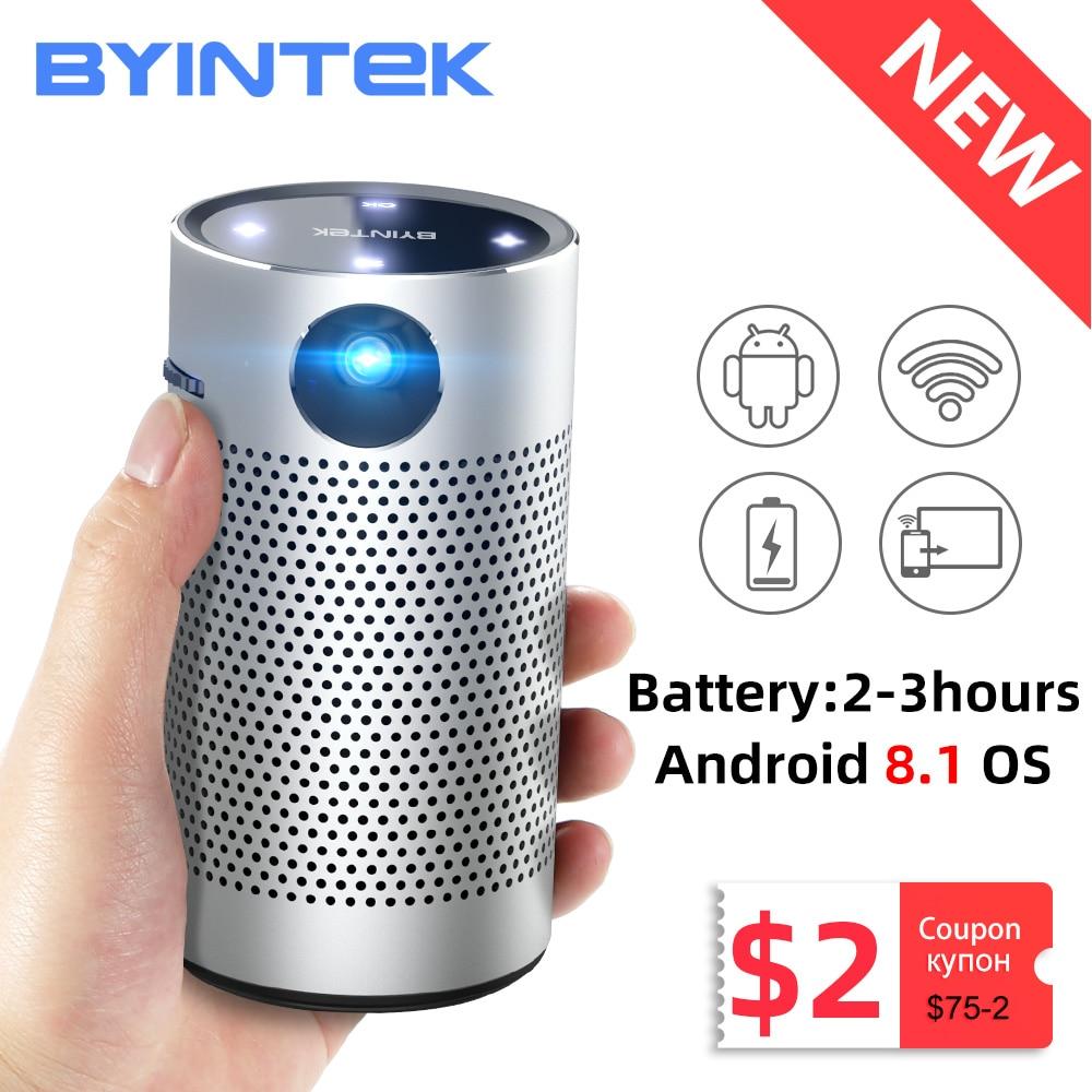 BYINTEK P7 Pocket Portable Pico Smart Android Wifi 1080P 4K TV LAsEr Mini LED Home Theater Phone DLP Projector for Mobile Cinema