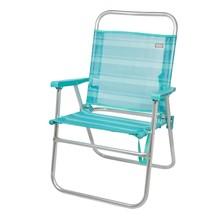 Cadeira dobrável de alumínio fixo aktive beach 56x50x88 cm-mediterrâneo