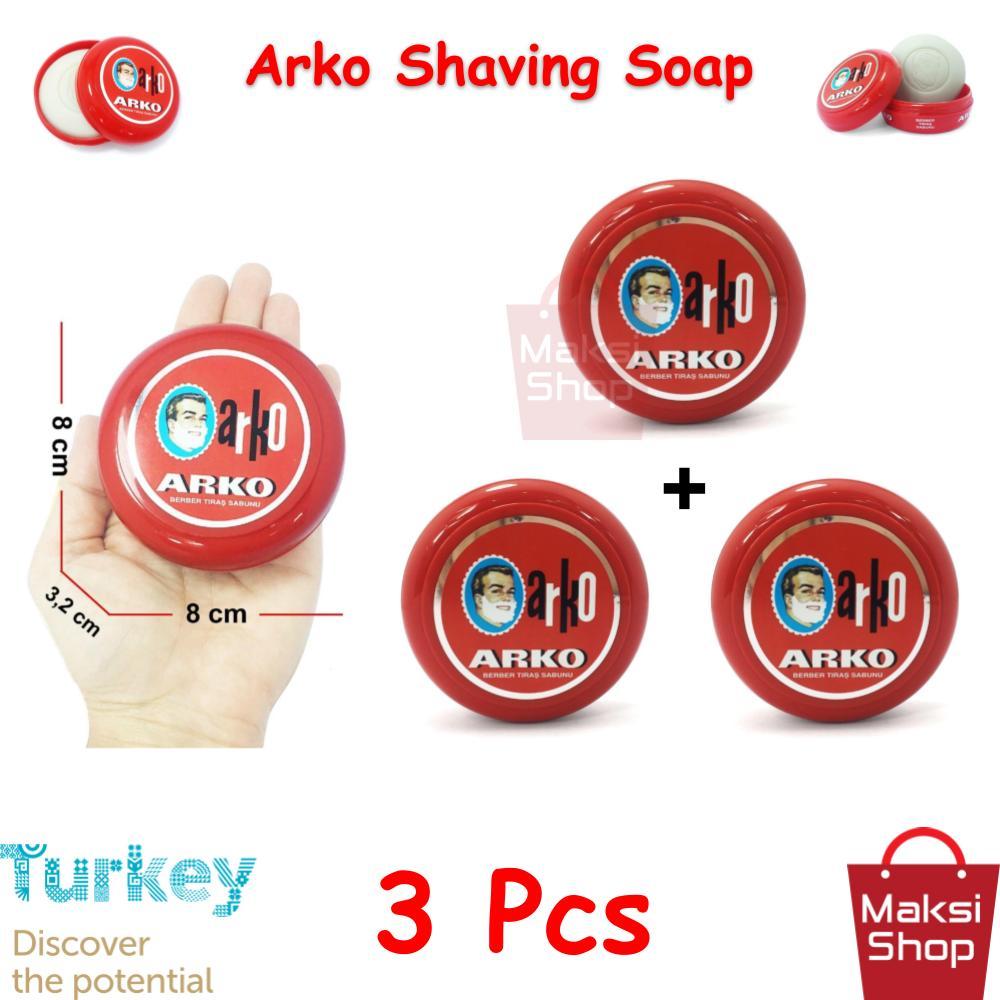 Arko Shaving Soap 90 g * 3 Pcs Bowl Razor Shaving Soap Abundant Foam Cleaning Easy Cleaning Easy Rinsing Face does Not irritate