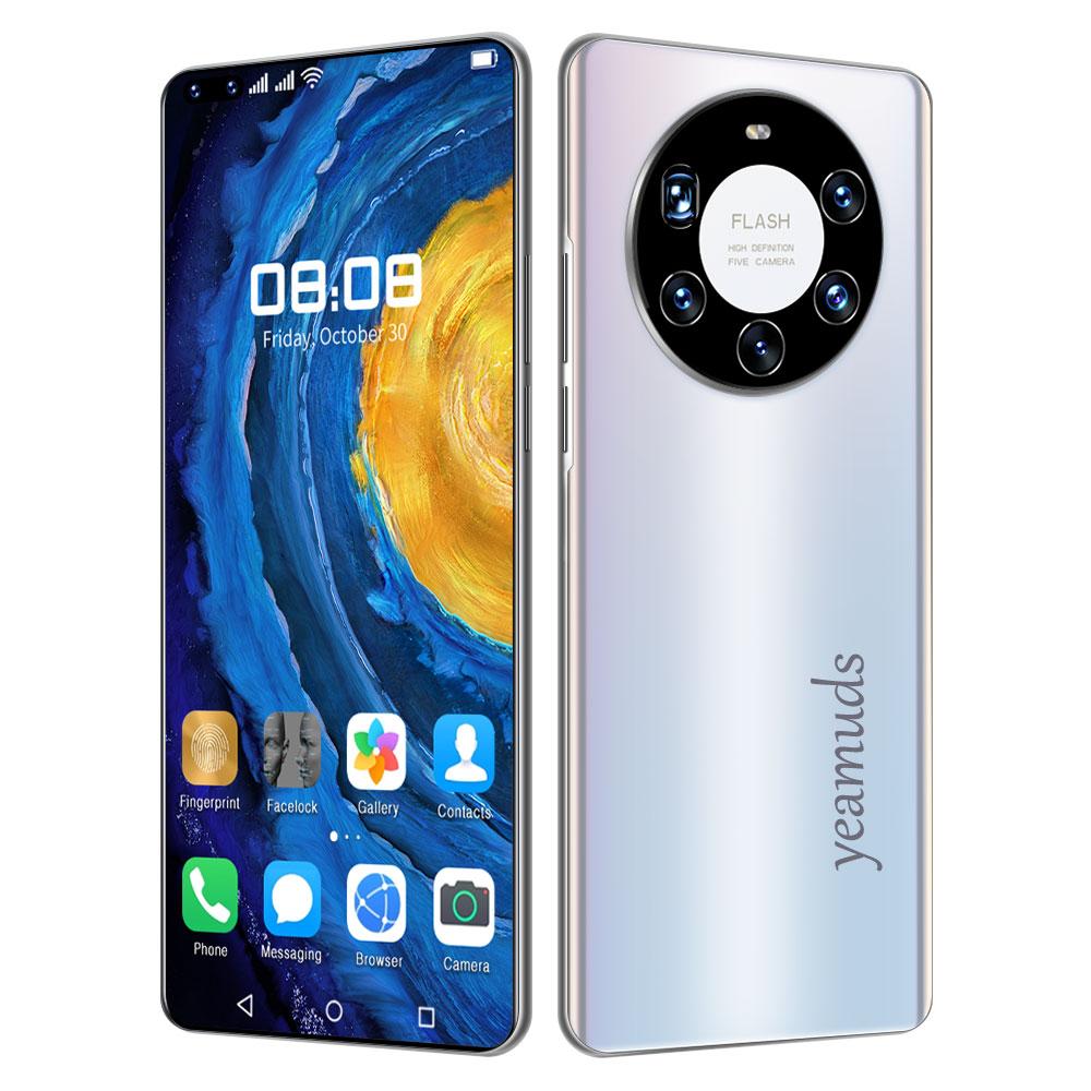 Global Version 7.2″HD Smartphone Mate40 Pro+ 8GB RAM 256GB ROM Android 10 Dual Sim Face Unlock Mobile Phones  Celular Smart