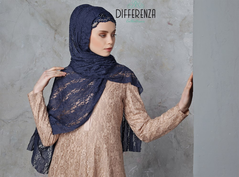 Hijab Turban Lace Haute  Couture Hand Made Special Design Differenza Muslim women clothing Islamic Fashion Turkey Wedding haute couture ateliers the artisans of fashion
