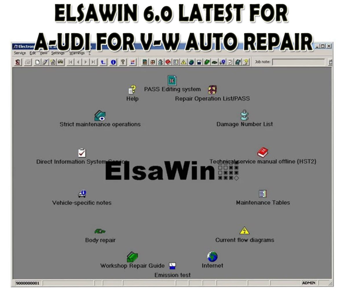 AliExpress - ELSAWIN 6.0 Newest For A-udi for V-W Auto Repair Car Repair The Latest ELSA WIN V6.0