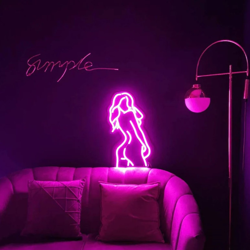 Women Body Custom Neon Sign LED Neon Light Sexy Lady Back Neon Sign Wall Hanging Night Lamp Home Room Decor enlarge