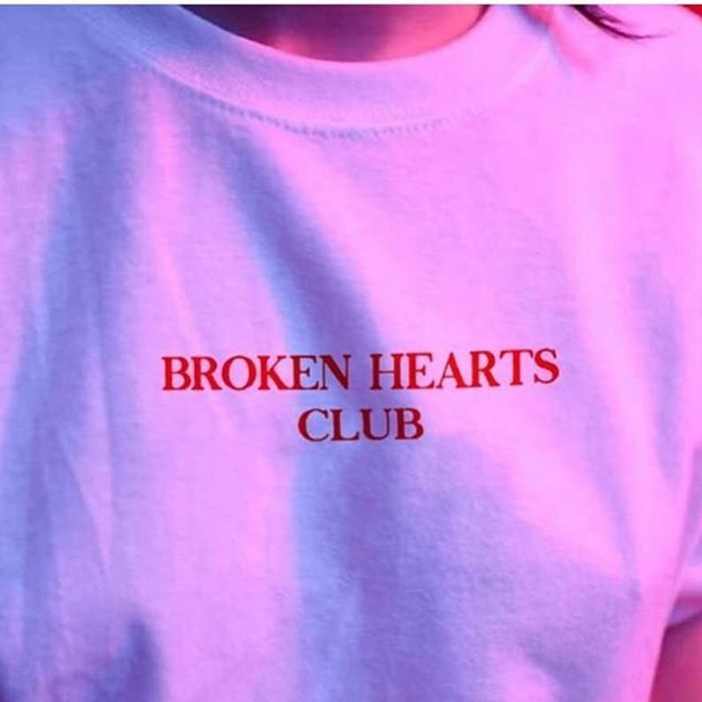 Sugarbaby Broken Hearts Club Funny Graphic T shirt Short Sleeve Fashion Women Cotton t shirt Casual Tops Drop Ship