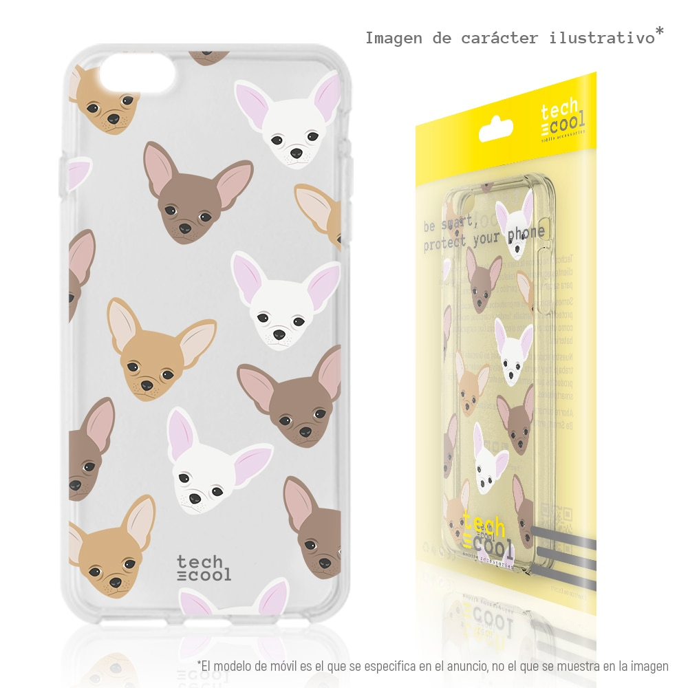 FunnyTech® Funda Silicona para Huawei P20 Pro l Mini Chihuahuas Transparente