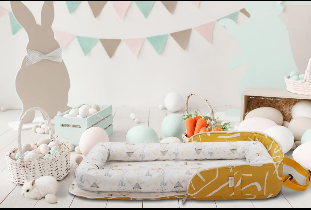 100*60 Cm Babynest Bed With Pillow Portable Crib Travel Bag Newborn Sleep Swaddle Cotton Fabric Has a Usage Range of 0-2 Years enlarge
