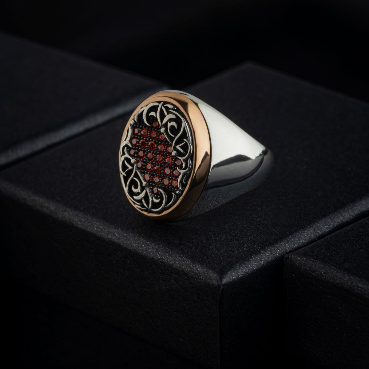 for men High-quality 925 Sterling Silver mını Zircon stone patterned ring Jewelry Made in Turkey in a luxurious way  with gift