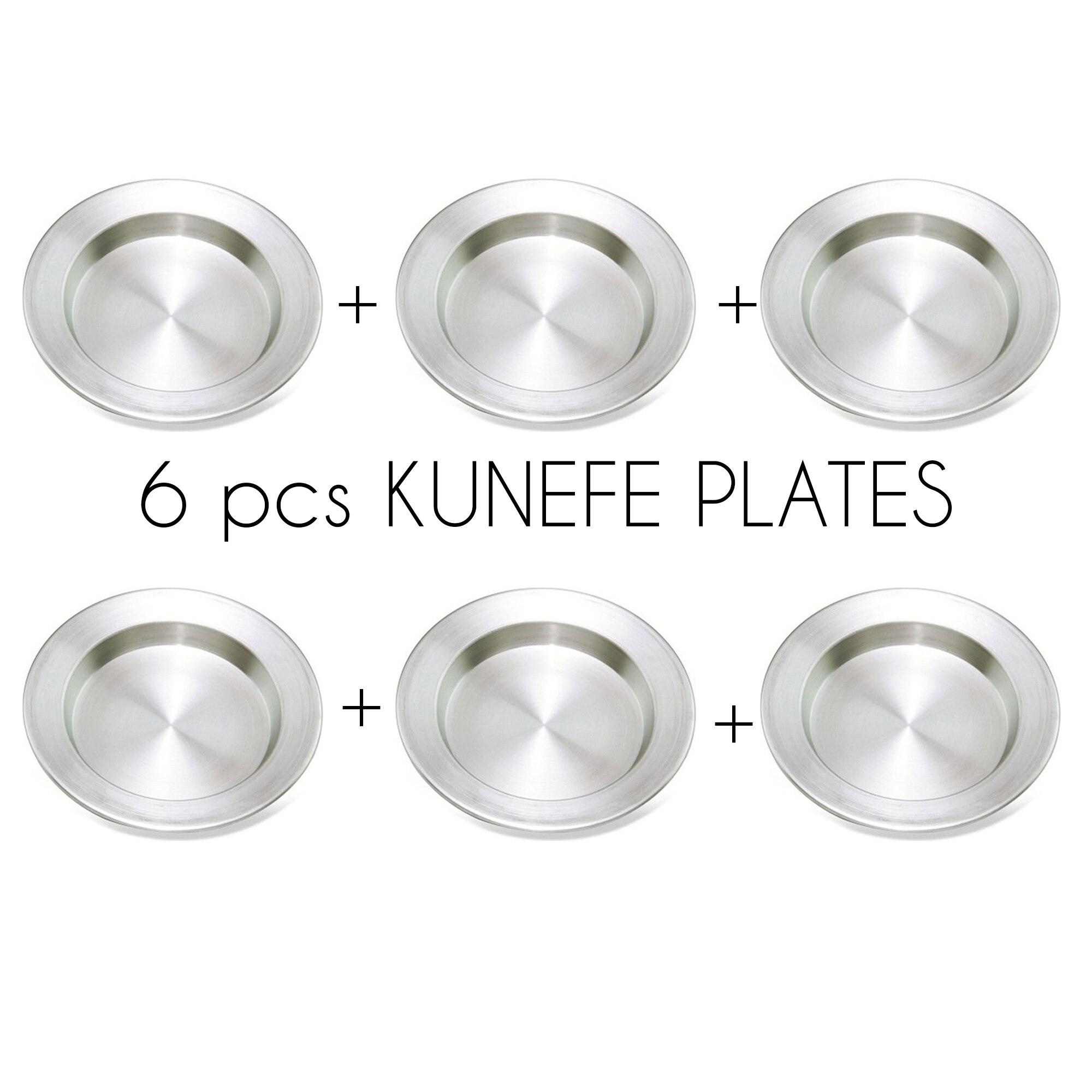 Kunefe assiette assiettes 6 pièces service assiette plat célèbre Dessert assiette présentation aluminium cuisine à manger Orginal de haute qualité Best