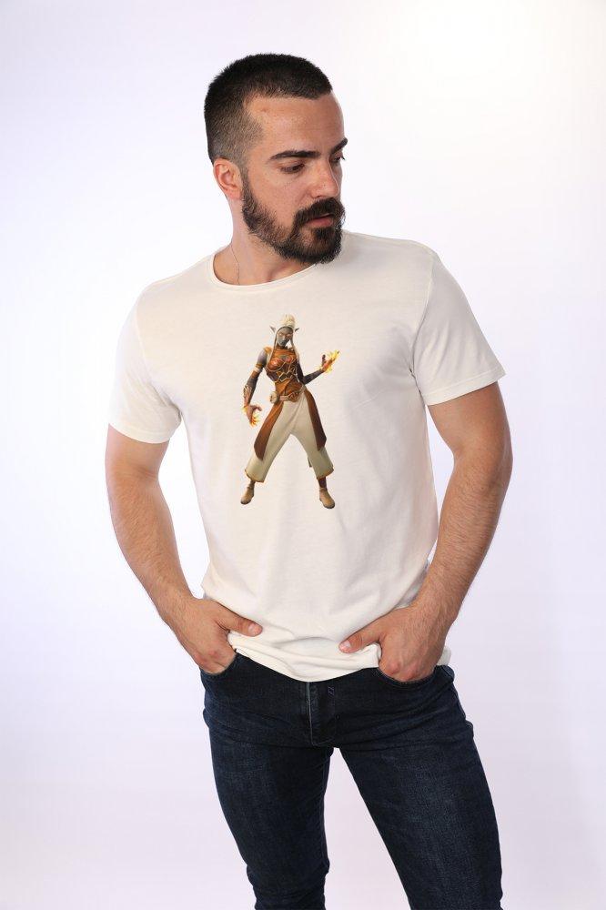 Camiseta de hombre Angemiel Wear Ember Fortnite es de algodón blanco