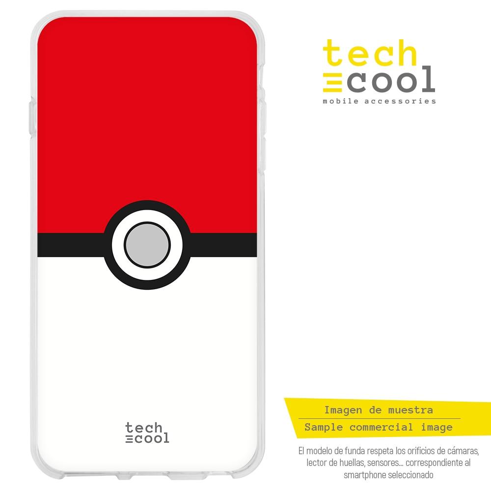FunnyTech® Funda Silicona para Motorola Moto G7 Power l Pokemon Pokeball vers.1