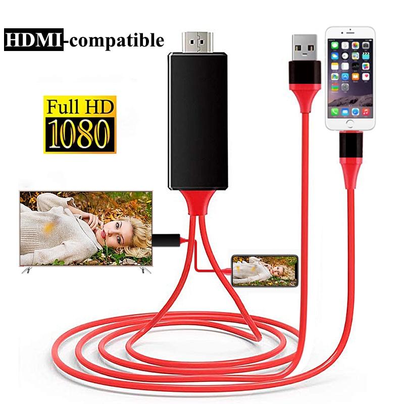 1,8 M 8 Pin zu HDMI-kompatibel Männlichen Kabel 1080P HD Konverter Adapter USB Kabel Für HDTV TV digitale Audio Adapter Kabel