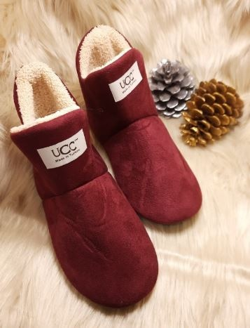 UGG Home Slippers Indoor Socks Shoes Winter Shoes Woman Fur Sides Female Contton Slipper Plush Insole Pantoffels Dames
