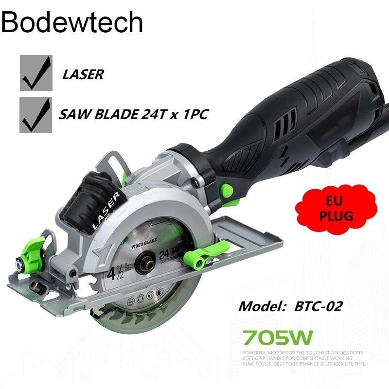 Bodewtech-منشار دائري كهربائي صغير BTC02 ، منشار خشب دائري 705 واط 3500 دورة في الدقيقة ، قطع: 42,8 مللي متر