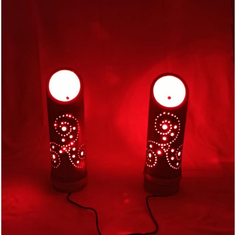 bamboo lamp night light bedside lamp decorative lamp desk  wood lamps hand made lamp lighting decor turkish lamp Made in Turkey