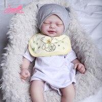 Newest 46CM Reborn Doll Newborn Baby Doll 2.25KG Realistic Baby Toys very soft full body silicone girl doll Birthday Gift